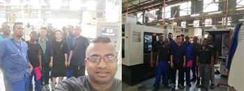 TZJ Machine Sent our Engineer to South Africa for Debugging Machines