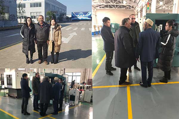Egypt customer visit TZJ for CNC Valve Groove & Tip Radius Grinding Machine